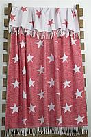 Плед хлопок 140х200 Stars красный Lotus