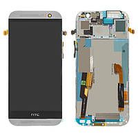 Дисплей HTC One M8 Dual SIM, белый, с сенсорным экраном, с рамкой