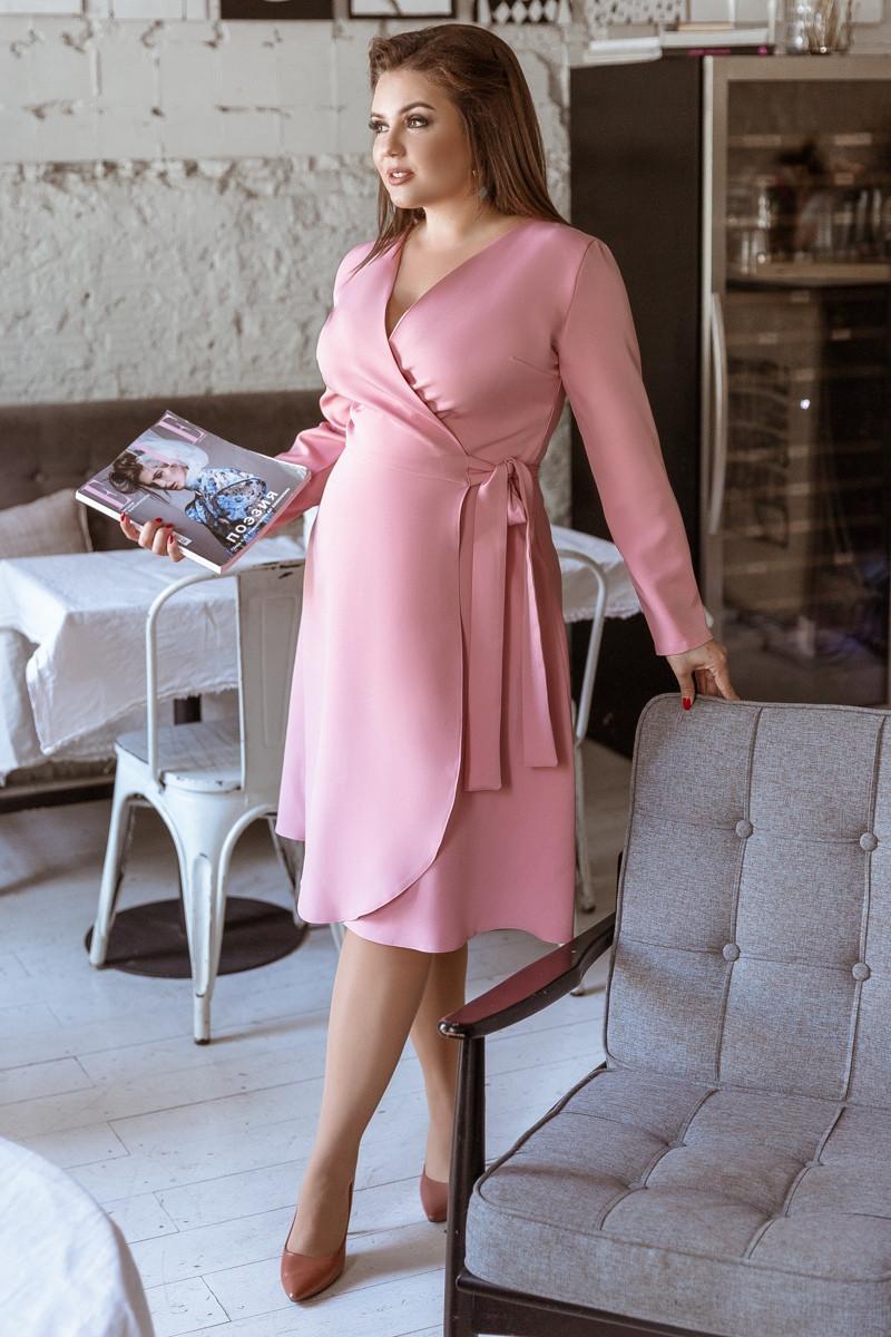 Женское платье большого размера на запах.Размеры:48-58.+Цвета