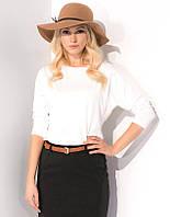 Женская трикотажная блуза молочного цвета. Модель Rosita Zaps
