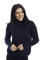 LUREX Теплая кофта с широкими манжетами - синий цвет, S