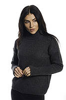 LUREX Теплая кофта с широкими манжетами - черный цвет, S