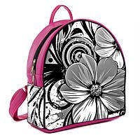 Рюкзаки женские розовые с принтом Цветок