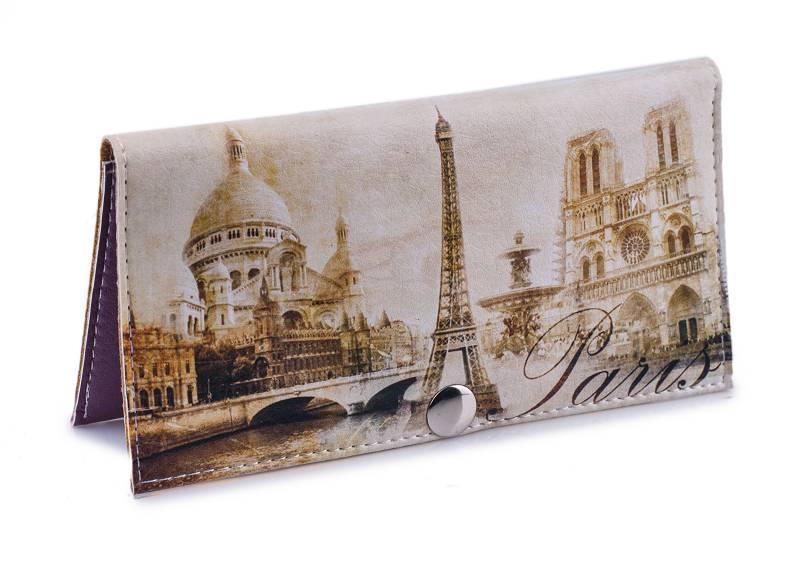 Женский кошелек -Винтажный Париж-. Ручная работа
