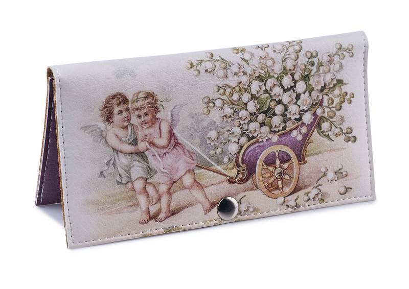 Женский кошелек -Ангелы с ландышами-. Ручная работа