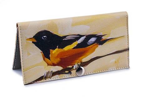Женский кошелек -Желтая птица-. Ручная работа, фото 2