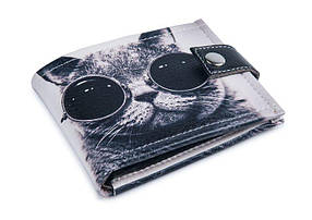 """Кошелек унисекс """"Крутой кот"""" . Удобный и компактный"""