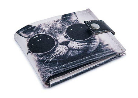 """Кошелек унисекс """"Крутой кот"""" . Удобный и компактный, фото 2"""