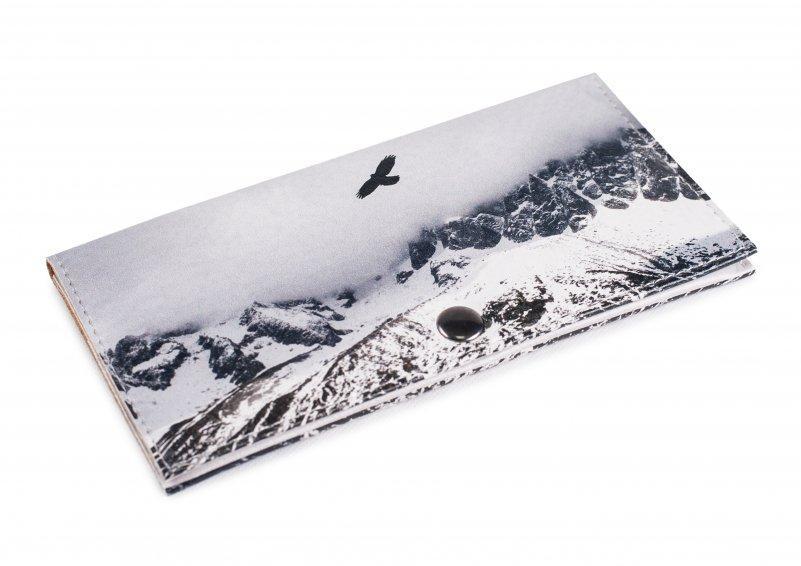 Женский кошелек -Полет в горах-. Ручная работа