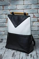 """Женский рюкзак """"Skins Black-White"""" Молодежный, повседневный, для учебы ( Міський, чорний)"""