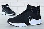 Чоловічі зимові кросівки Nike Air Huarache Winter з хутром (чорно-білі), фото 6