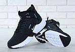 Чоловічі зимові кросівки Nike Air Huarache Winter з хутром (чорно-білі), фото 9