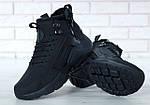 Чоловічі зимові кросівки Nike Air Huarache Winter з хутром (чорні), фото 9