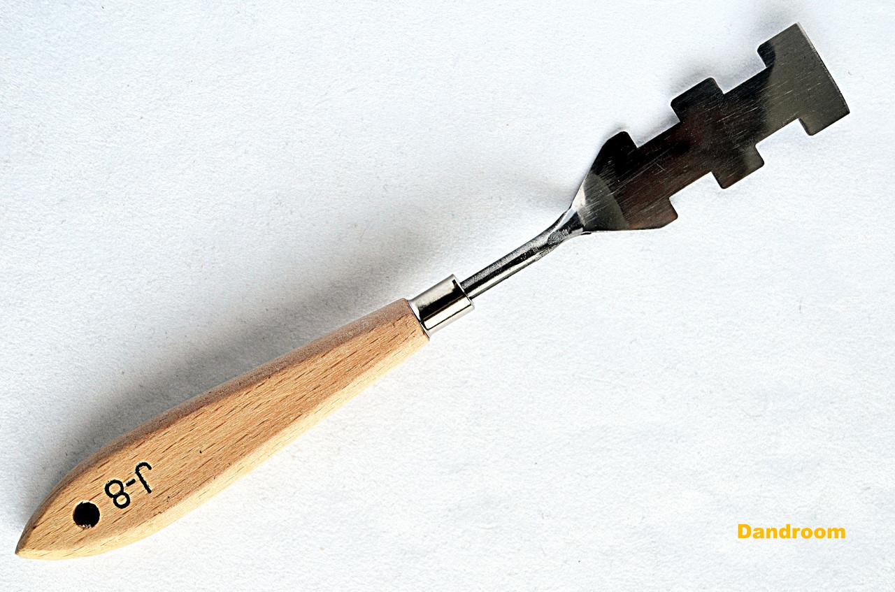 Мастихин №J-8, длина 6,5 см, прямоугольный