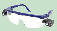 Очки Комфорт-у (прозрачные) с регул. дужкой и 2-мя фонариками, стекло поликарбонат
