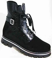 Зимние ботинки замша женские (37-42 размеры) MD0063