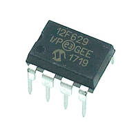Чип PIC12F629-I/P 12F629 DIP8, Микроконтроллер 8-бит 20МГц 1.75КБ Flash