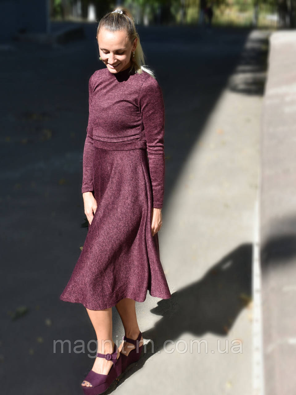 Осенне/зимнее платье с секретом для кормящих мам из ангоры софт от For Kids