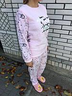 Женская пижама - Розовая с котом, фото 1