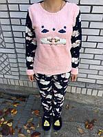 Женская пижама - Сине-розовая с барашками, фото 1