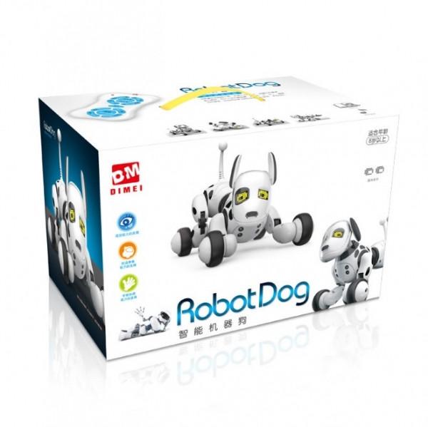 Робот собака Smart dog переворачивается