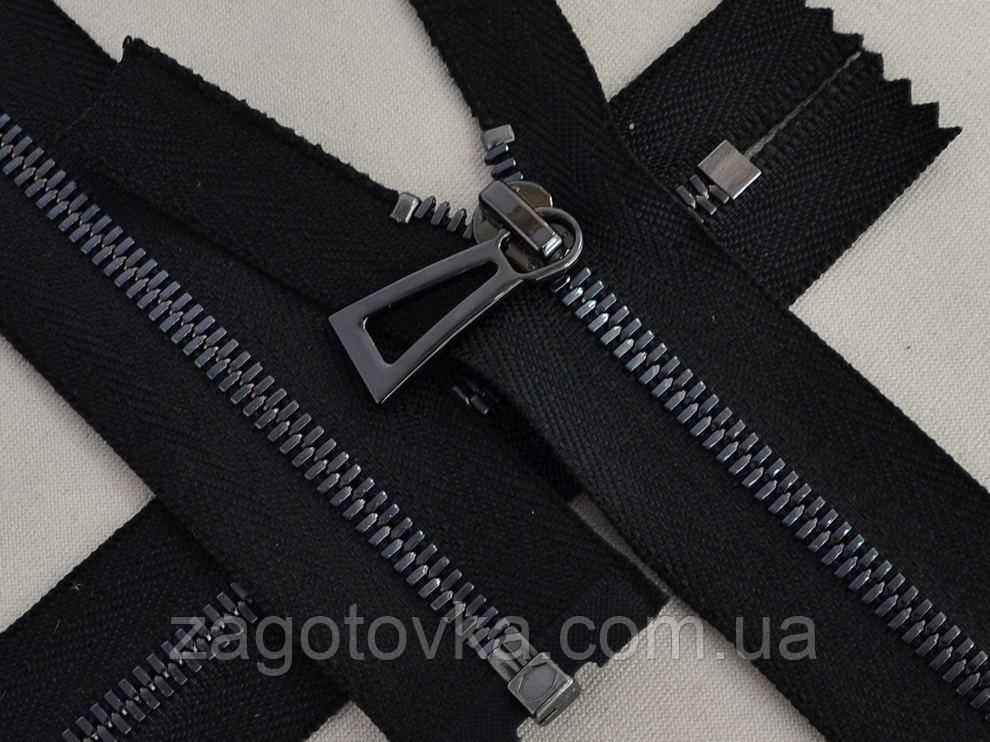 Молния металлическая премиум 18см цвет черный никель