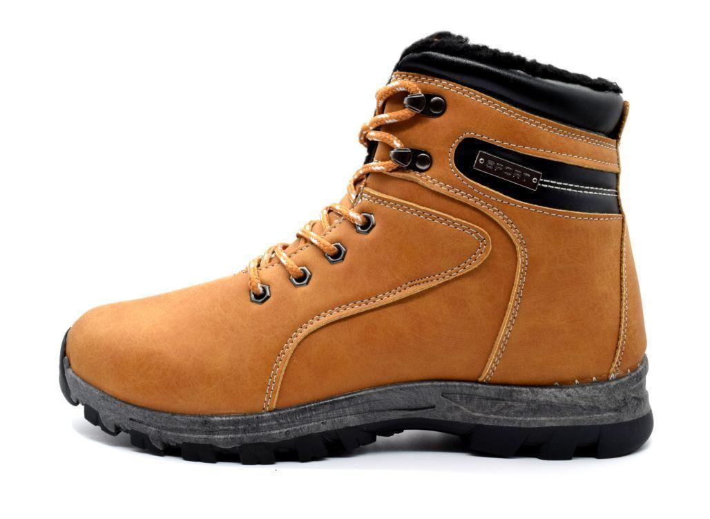 Черевики чоловічі зимові коричневі ботинки мужские