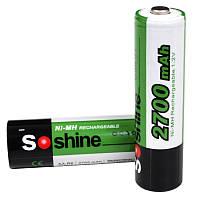 Аккумулятор никель-металлогидридный Ni-MH AA (R6) Soshine 1.2V (2700mAh), 4шт в блистере