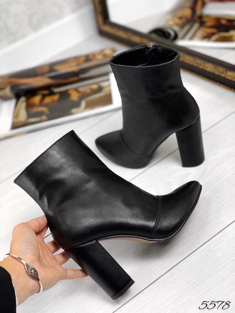 Ботинки демисезон классика чёрная кожа натуральная кожа В наличи и под заказ