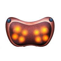 Массажная подушка автомобильная с ИК-подогревом массажер Шиацу