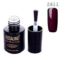 Гель-лак для ногтей маникюра 7мл Rosalind, шеллак, 2611 темная слива