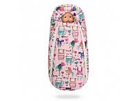 Конверт -кокон меховой Baby XS Рисунки на розовом фоне 356-19016645