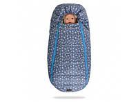 Конверт -кокон меховой Baby XS Голубые звезды 356-19016647