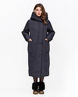 Зимняя куртка удлиненная  с 46 по 58 размер (цвет ХАКИ)