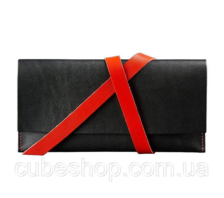 Кожаный Тревел-кейс (черный с красным)