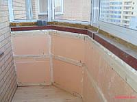 Утепление балкона пенопластом 50 мм
