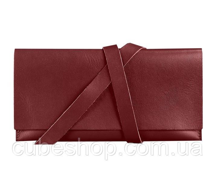 Кожаный тревел-кейс Voyager (бордовый) кожа krast