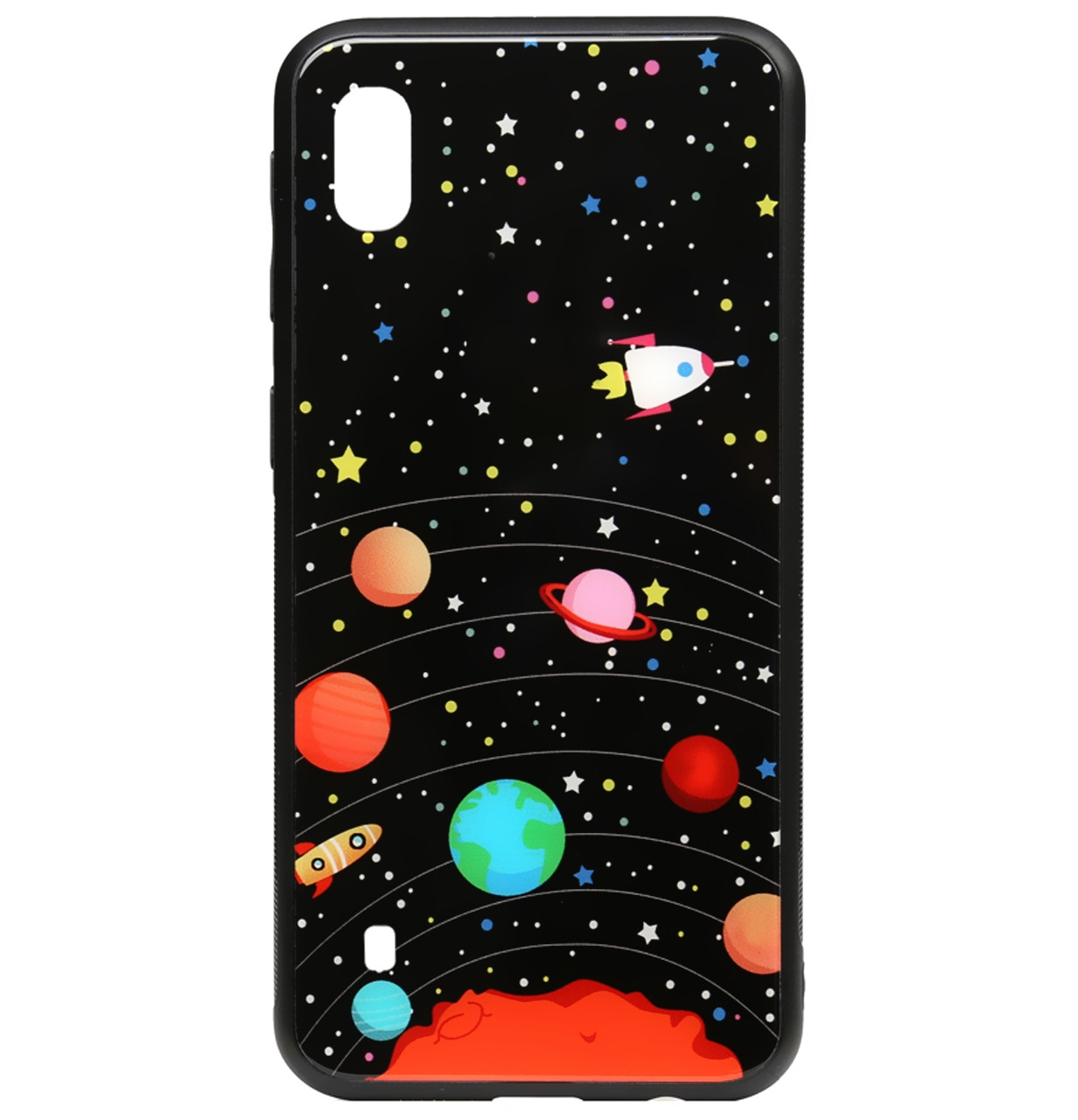 Чехол-накладка TPU+Glass TOTO Cartoon Print Glass Case для Samsung Galaxy A10 (2019) SM-A105F (Planets)
