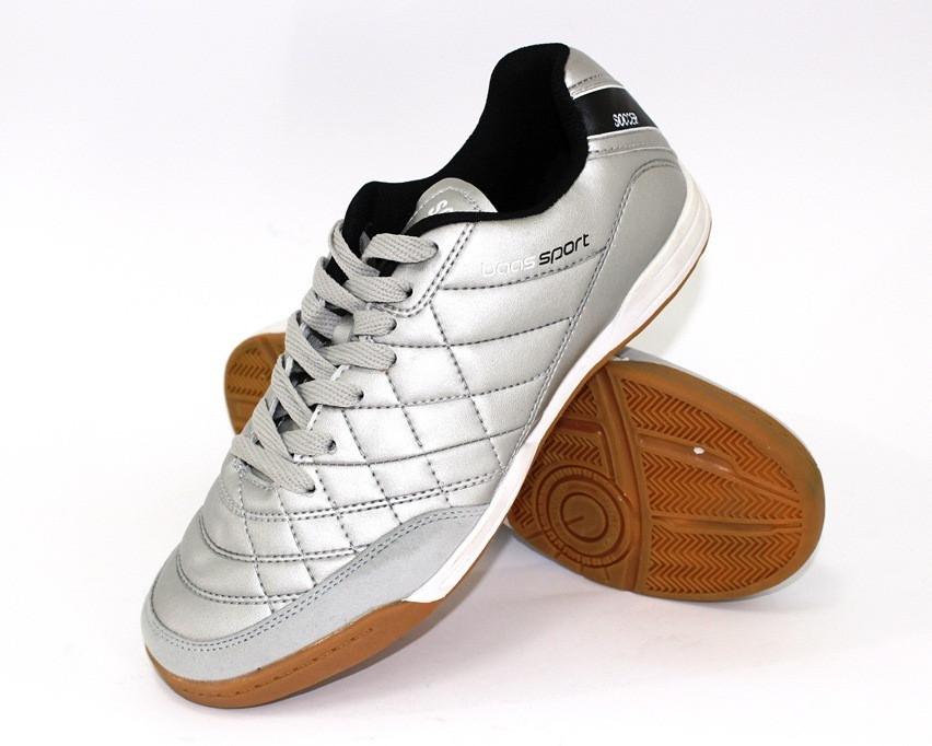 Мужские серебристые кроссовки для футзала