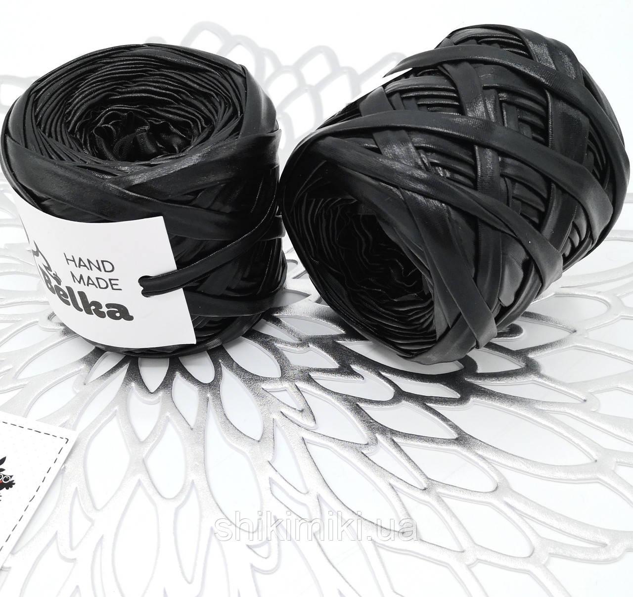 Трикотажная пряжа металлик Belka, цвет Черный