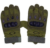 Перчатки тактические полнопалые Oakley 94025 олива, фото 1