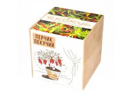 Набор для выращивания Экокуб Жгучий красный перец
