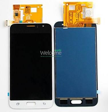 Модуль Samsung Galaxy J1 SM-J120 white дисплей экран, сенсор тач скрин, фото 2