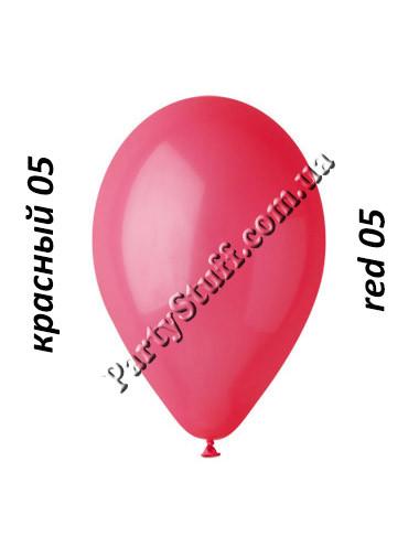 шарики gemar 12 дюймов красный