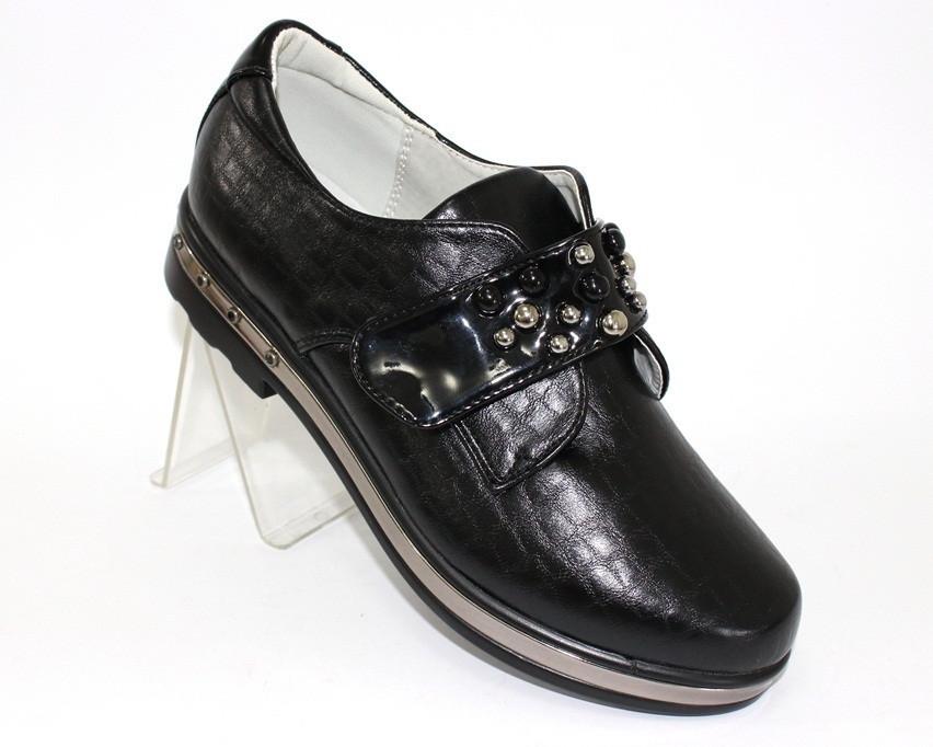 Красивые туфли на липучках для девочки
