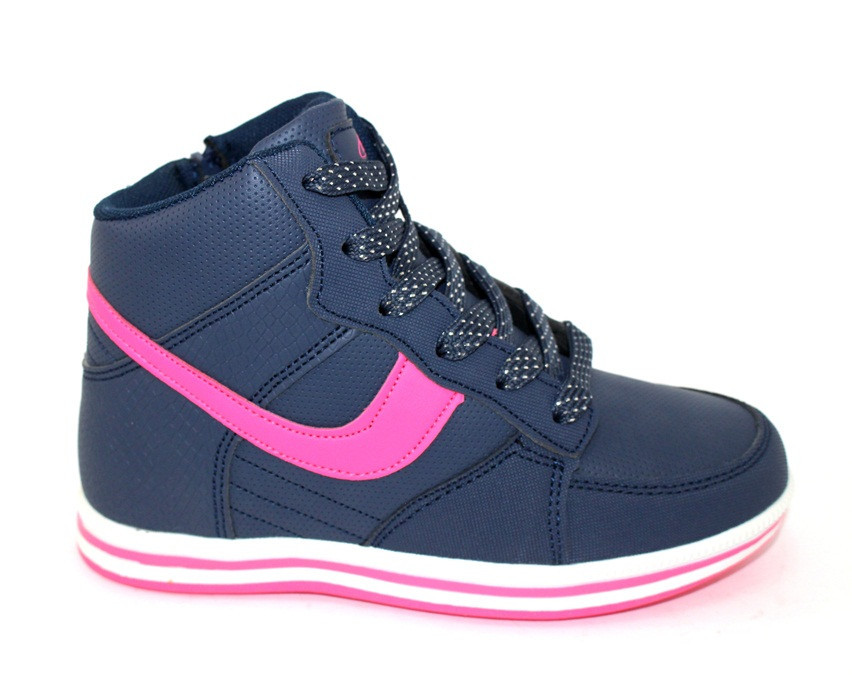 Осенние высокие кроссовки для девочки