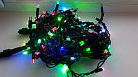 Уличная гирлянда Бахрома 100 Led 3м, цвет мультиколор flash, черный провод, фото 1