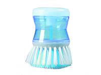 Щетка для мытья посуды Radiance с дозатором  Голубой