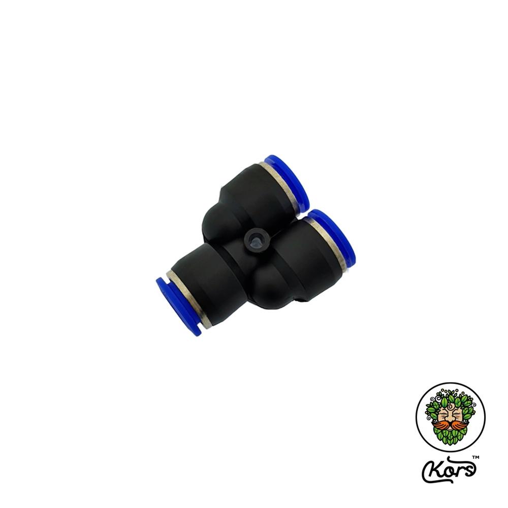 Тройник пуш фитинг 6 мм. (Y-образный)