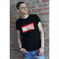 Футболка Marvel хлопок Черная S, M, L, XL | Black Bird